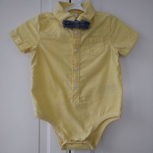 4/$20 Baby boy dress onesie bow tie 6-12 months